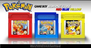 Pokemon Rom Icons RBY by Alforata