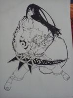 Soul Eater - Tsubaki and BlackStar (Outlines) by tamacchi
