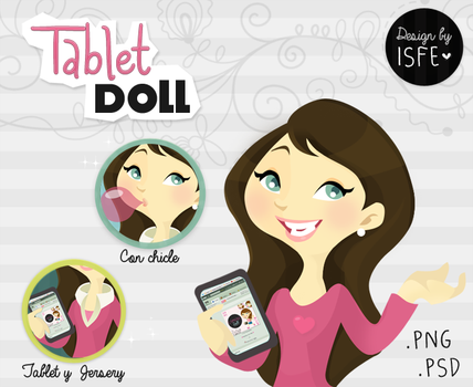 Tablet Doll (.PSD) by Isfe