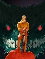 Dragonero #1 cover, first version by GiuseppeMatteoni