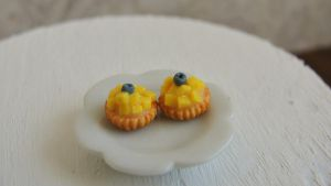 Miniature mango tarts by AGTCT