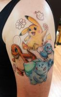 Pokemon tattoo by adrianjf
