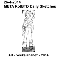 META RotBTD 2014 Daily Sketch 4-26 by veekaizhanez