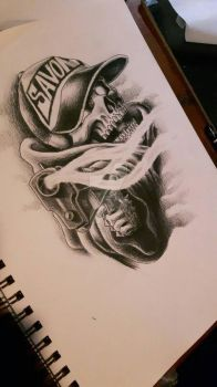 client's future tattoo by scribilitary