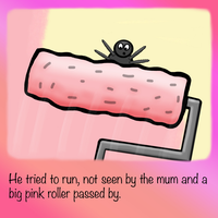 The Little Pink Spider by Joker-laugh
