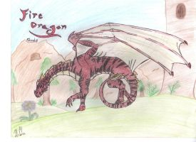 Fire Dragon Female by queenfirelily17
