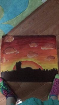 Acrylic Painting For my Mother by nightpeltstar456