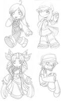 RE chibi sketches by ExiledChaos