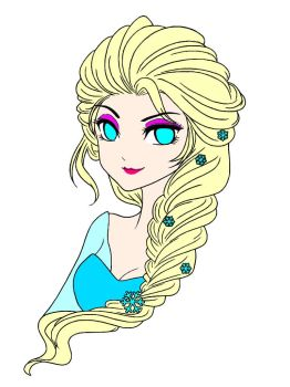 Princess Elsa Anime Lineart by shinekoshin by princessahagen