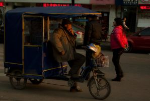 Shanghaian old rickshaw driver by CunisiaInc