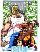 Wolverine vs. Sabretooth PSC by chris-foreman