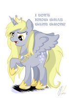 Annoyed Princess Derpy Hooves by teammagix