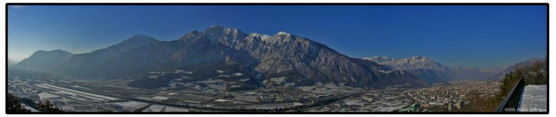 Trento from the high by mdt