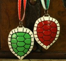 Red and Green Turtle Shells by CatharsisJB