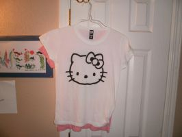 Hello Kitty Stencil Shirt by AlexisFobe