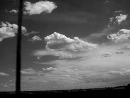 black and white sky by EnforcedCrowd