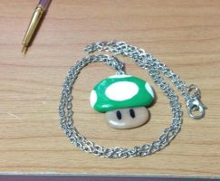 Mario 1up Mushroom Necklace: Now Available! by MiniMushies