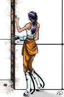 Chell and the Rathole by BigBabyLuc