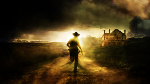 the walking dead wallpaper farm by Pain-orco