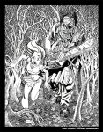 Texas Chainsaw Black and White by BryanBaugh