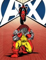 Spiderman vs Colossus AvX contest by mdavidct