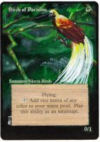 Magic Card Alteration: Birds of Paradise 9-17 by Ondal-the-Fool