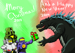 Merry Christmas Kaiju Fans... by a3dkid