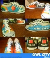 Owl City Shoes by Seelenverwandten