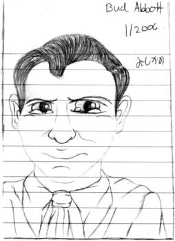 Bud Abbott-Drawing1 by vaudeville-comedy