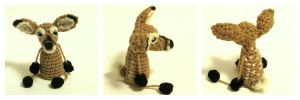Crochet Deer Doll by Windowsillcharms