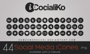 iCocialiKo FREE Social Media iCones by lechham