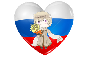 Russia Chibi Heart Flag Series by Spirit-Okami