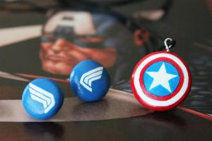 Captain America Jewelry Set by xcalixax