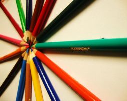 Pencil circle 4 by Laura-in-china