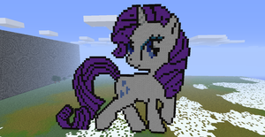 Minecraft- Rarity by aprilgoddess