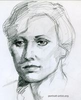 Young woman portrait drawn from life by bearsclover