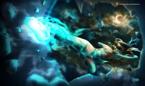 Akali Splash Art color edit by Za-Leep-Per