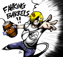 Pewdiepie Barrel Throw Version 1 by RogenUchiha