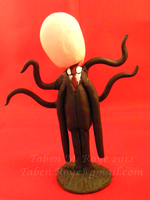 Slender Man Bobble Head by Tanadrine-Studios