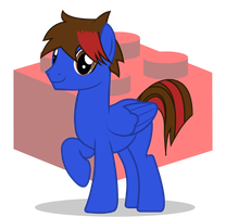 Brick Brony | Vector Commission by GoldenFoxDA