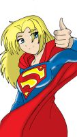 Cute Supergirl by Koku-chan