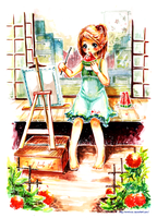 Girl and Painting by arielucia