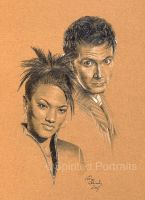 Tenth Doctor and Martha by Timedancer