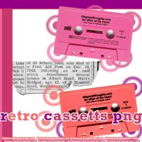 7 Retro cassettes PNG by JuuustGPB