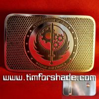Fallout Brotherhood of Steel brass belt buckle by TimforShade
