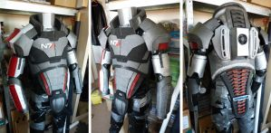 Mass Effect Shepard Armour WIP2 by The-Rover