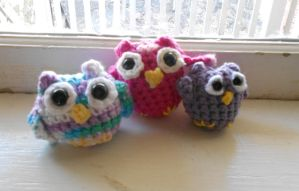 Crochet Owlets by SimbaHearted