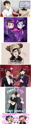 Dan and Phil Compilation 2 by incaseyouart