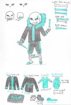 Underlore: Sans Reference Sheet by ValkyrieWolf246