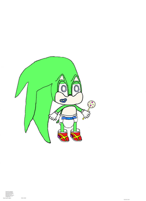 Beginning Baby Greed The hedgehog the Fusion Child by JorgeBunny